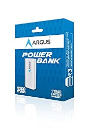Argus 5200mAh Power Bank with 1 year Warranty-Pearl White