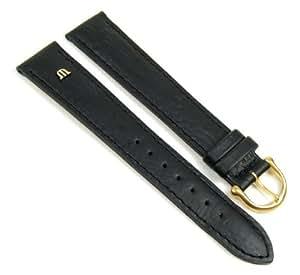 Original Maurice Lacroix Bracelet de Montre buffleveau cuir noir XXL 19mm 293171910G-tit
