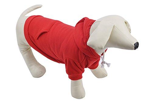 Pet Red XXXL Dog Fleece Coat Sweater Jumpsuit Puppy Cat Hoodie Sweatshirt Clothes Apparel with Pockets