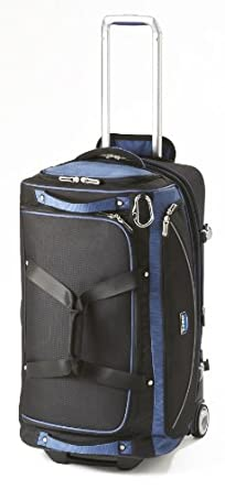 Travelpro Luggage T-Pro Bold 26 Inch Drop Bottom Rolling Duffel Bag, Black/Blue, One Size