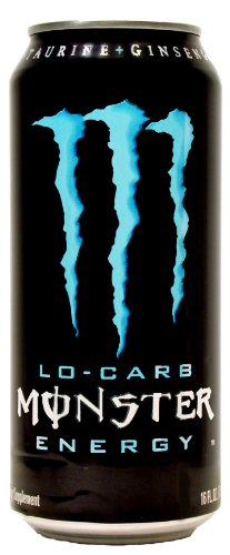 4 Pack - Monster Low Carb Energy Drink - 16 Ounce
