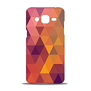 ezyPRNT Triangle Pattern Purple Beautiful Premium PC Plastic Mobile Back Case Cover for Samsung Galaxy J2