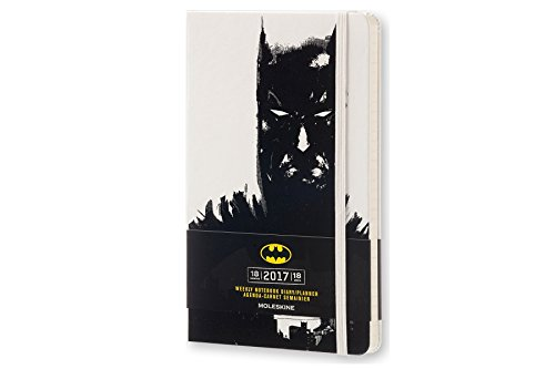 Moleskine 2016-2017 Batman Limited Edition Weekly Notebook, 18M, Large, White, Hard Cover (5 x 8.25)