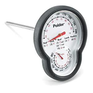Polder 12453 Stainless Steel Dual Oven Thermometer by Polder