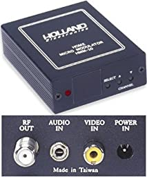 Holland Electronics HMM-10H Commercial Grade RF TV Micro Modulator