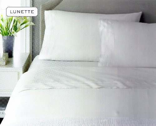 Martha Stewart Collection Luxury Lunette 500T King Pillowcases (Set Of 2) White front-953725