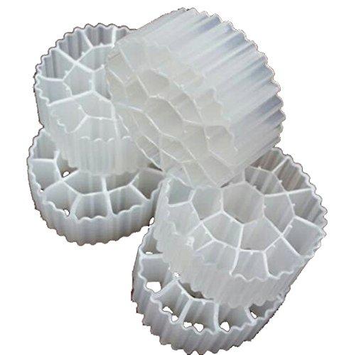 1 Gallon (3.8 Liters) Kaldnes K3 Filter Media Moving Bed Biofilm Reactor (MBBR) for Aquaponics • Aquaculture • Hydroponics • Ponds • Aquariums by Cz Garden Supply