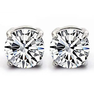 925 Sterling Silver Stud Earrings set with 6MM Swarovski Crystal Stones. Gift Box. Beautiful jewellery for very special people