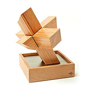 8 Piece Tegu Asterisk Magnetic Wooden Block Set, Mahogany