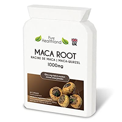 High Potency Maca Root Supplement Capsules. Safe Natural Effective Energy Mood Booster Libido Enhancer Pills for Men and Women. Promote Healthy Sexual Function and Increase Sex Drive For Male And Female. Food Supplement Suitable For Vegetarians and Vegans