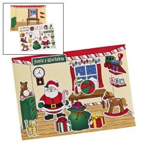 Make-A-Santa's Workshop Sticker Scenes (12) - Kids' Stationery & Stickers