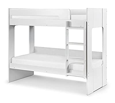 Happy Beds Ellie Bunk Bed Solid Wood White Storage Kids Children Bedroom