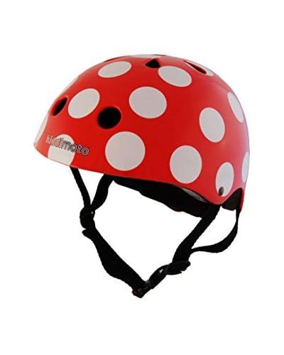 Kiddimoto Helm Kids Design Sport Red Dotty / Pünktchen Rot
