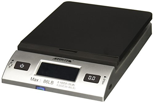 Accuteck S 86 lb All-In-One Silver Digital Shipping Postal Scale with Adapter (W-8260-86BS) (Accuteck Digital Postal Scale compare prices)