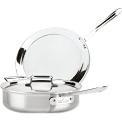 All-Clad BD554045 Stainless Steel D5 Brushed 5-Ply Bonded Dishwasher Safe 4-Quart Chicken... by All-Clad