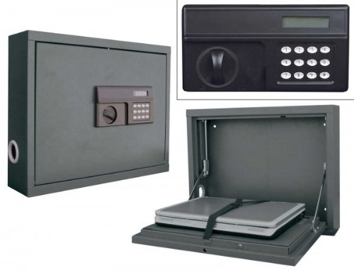 Wall Mount Laptop Safe : Folding wall mounted office computer desk unit for
