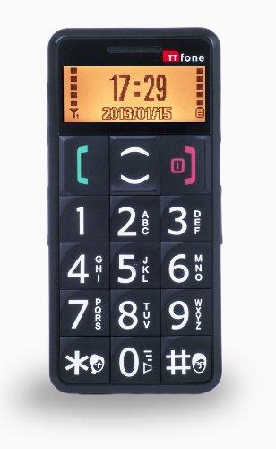TTfone Merkur TT002 - Einfach zu bedienendes Seniorenhandy mit grossen Tasten, SOS Taste und leicht zu lesendem Display - Schwarz/Black