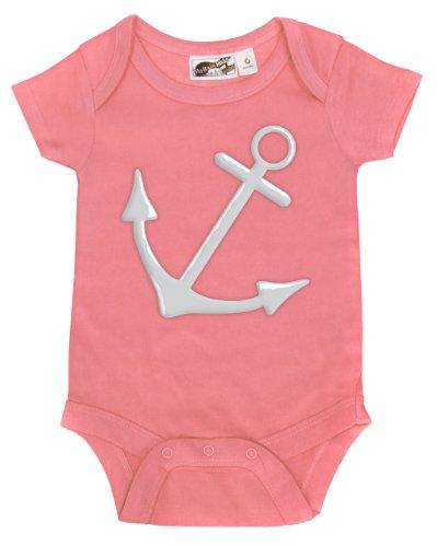 Anchor Bubblegum Pink & White One Piece 6-12 Months front-1038273