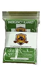 Emergency Blanket Pack of 4 - Highest Quality - Light and Convenient - Gold / Silver for Best Safety