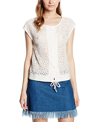 Vero Moda Bellas, Camicia Donna, Bianco (Snow White), 38