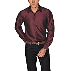 Provogue Men's Casual Shirt (8903522441349_103526-RE-162_Medium_Maroon)