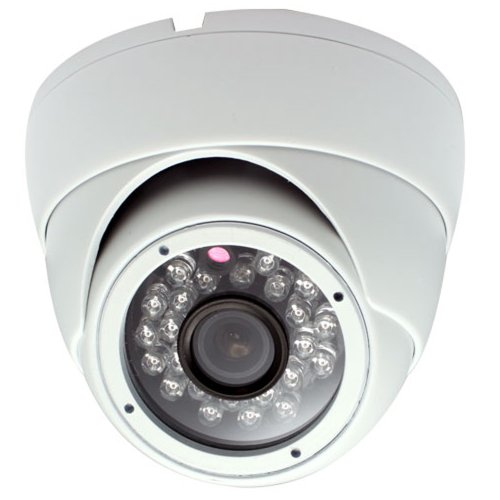 """Brand New Gw Security Professional 650Tvl Indoor Dome Security Camera With Microphone Built In - 1/3"""" Sony Supper Had Ccd Ii, 650 Tv Lines, 3.6Mm Wide Angle Lens, 24 Ir Leds. Osd Menu. Metal Vandal Proof. Low Illumination 0 Lux (With Ir Led On)"""