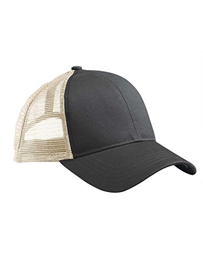 Econscious Ec7070 Eco Trucker Organic/Recycled Cap. - Black/Oyster - One Size front-184636