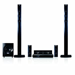 LG BH9431PW 1460W 3D Blu-Ray Theater System with Smart TV, 3D Sound, Wireless Rear Speakers, Tall Fronts ? Black Cones