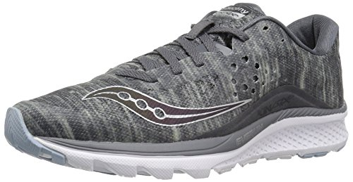 Saucony Women's Kinvara 8 Running Shoe, Grey, 6.5 Medium US