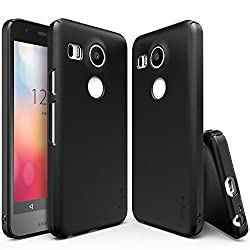Nexus 5X Case, Ringke SLIM **Essential Ultra Thin**[FREE Screen Protector][SF Black] Perfect Fit & Ultra Slim Scratch-Resistant Protective Hard Case for Google Nexus 5X 2015 (NOT for Nexus 5 2013)