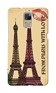 KnapCase From Paris With Love Designer 3D Printed Case Cover For Huwaei Honor 7