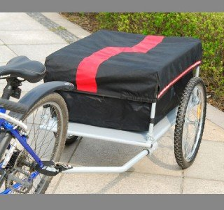 Aosom NEW Red and Black Cargo Bicycle Bike Trailer Trunk
