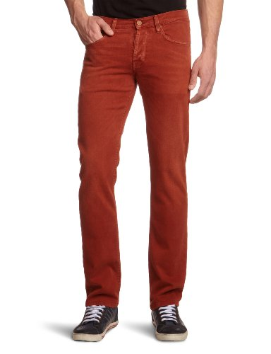 7 For All Mankind Men's SNZM380NX Straight Leg Jeans Red Vintage Red 33/34