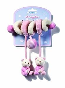 Espiral de juegos para niño, diseño de osos, color rosa