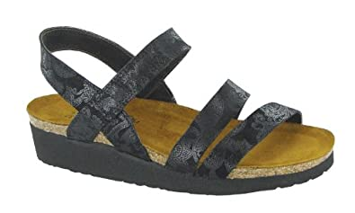 Naot Women's Kayla Sandals,Black Lace Nubuck,35 M EU