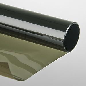 Led gigant pellicola solare adesiva effetto specchio 75x300 cm verde finestra fai - Vetri a specchio per finestre ...