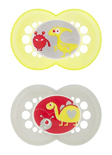 Mam Monsters Silicone Pacifier, Unisex, 6 Plus Months, 2 Count