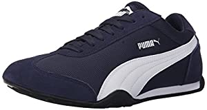 PUMA Women's 76 Runner Fun Mesh Sneaker, Peacoat/White, 7.5 B US