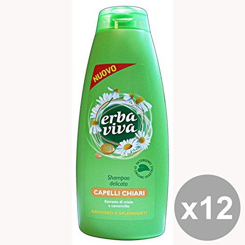 Set 12 ERBA VIVA Shampoo Capelli Camomilla Capelli Chiari 500 Ml. Prodotti per capelli