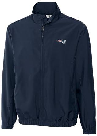NFL New England Patriots Mens WindTec Astute Full Zip Windshirt by Cutter & Buck