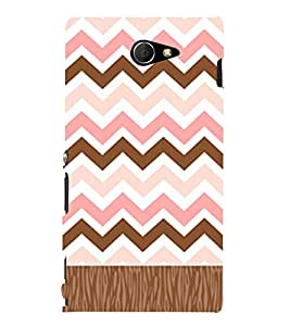 Chevron Girly Pattern 3D Hard Polycarbonate Designer Back Case Cover for Sony Xperia M2 Dual D2302 :: Sony Xperia M2