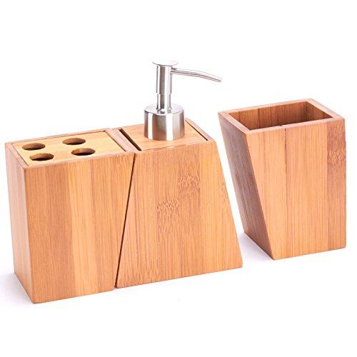 Seifenspender und Zahnbürstenhalter aus Bambus - 2
