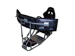 GTR Racing Simulator - GTSF Model with Real Racing Seat, Driving Simulator Cockpit with Gear Shifter Mount and Triple or Single Monitor Mount from GTR Simulator