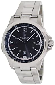 Victorinox Mens 241569 Night Vision Analog Display Swiss Quartz Silver Watch by Victorinox