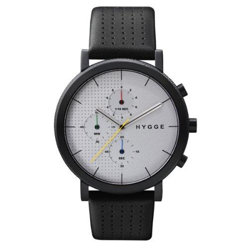 [ヒュッゲ]HYGGE 腕時計 2204 Leather/White dial Black case POS+ [ポスト] MSL2204BC(CH) メンズ 【正規輸入品】