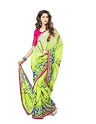 FadAttire Georgette Chiffon Printed Saree With Blouse FAPKS25
