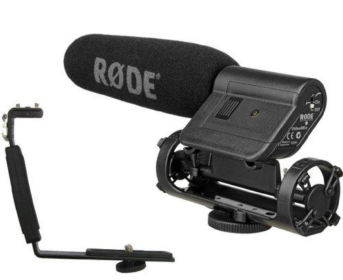 Rode Videomic Directional On-Camera Condenser Shotgun Microphone With Polaroid Camcorder/Dslr Camera Shoe Bracket Kit