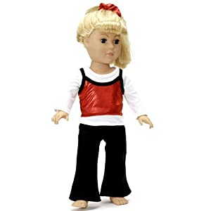 """18 Inch Dolls Clothes/clothing Fits American Girl - Jazz Dance Outfit Includes 18"""" Doll Accessories"""