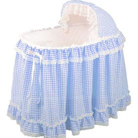 Light Blue Gingham Liner/Skirt And Hood Size: 17Inch X 31Inch front-819864
