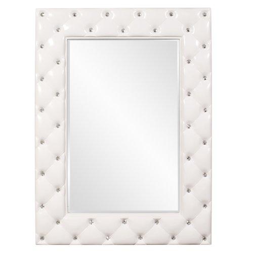 White Bedroom Vanity With Mirror front-61248